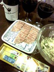 ワインで晩ご飯